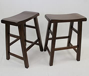Collections Of Walnut Saddle Bar Stools