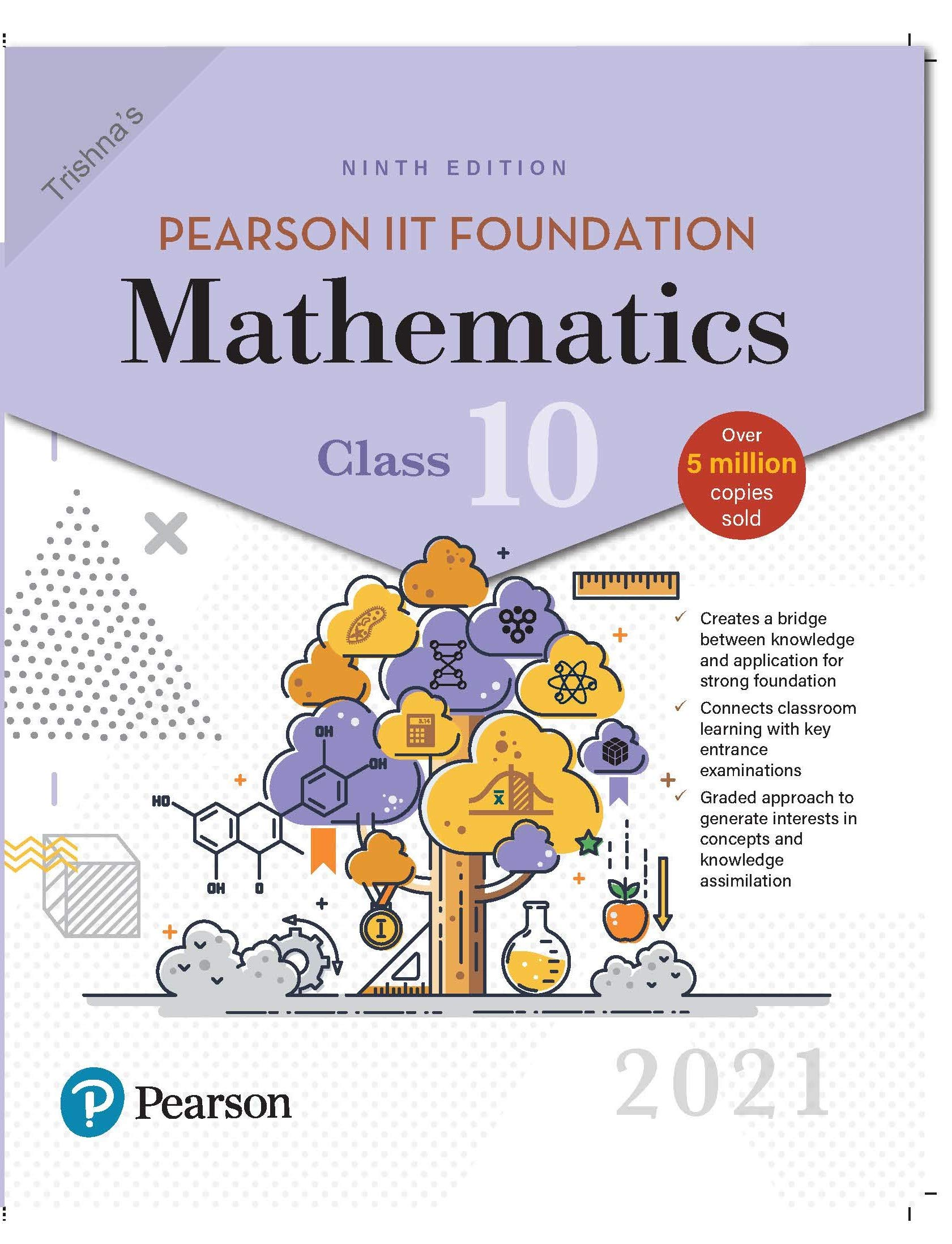 Pearson IIT Foundation Mathematics   Class 10  2021 Edition  By Pearson