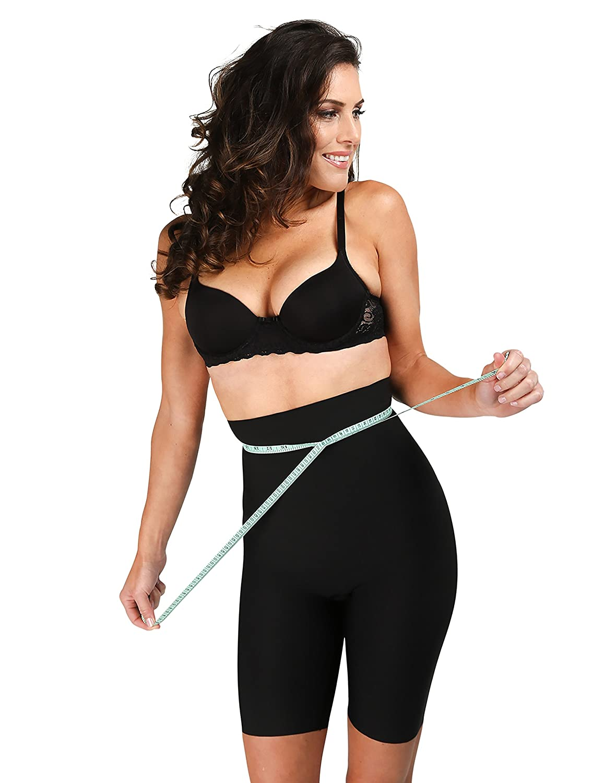 Regular /& Plus Sizes Delfin Spa Womens Body Slimming High Waist Shapewear Shorts