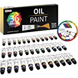 U.S. Art Supply Professional 36 Color Set of Art Oil Paint in Large 18ml Tubes - Rich Vivid Colors for Artists, Students…