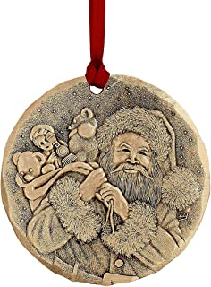 """product image for Wendell August 2019 Annual Ornament, A Visit from St. Nicholas – 2.125"""" Ornament, Handmade in USA, Makes a Great (Bronze)"""