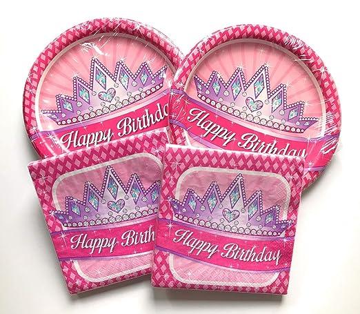 Juego de platos y servilletas de feliz cumpleaños - muy ...