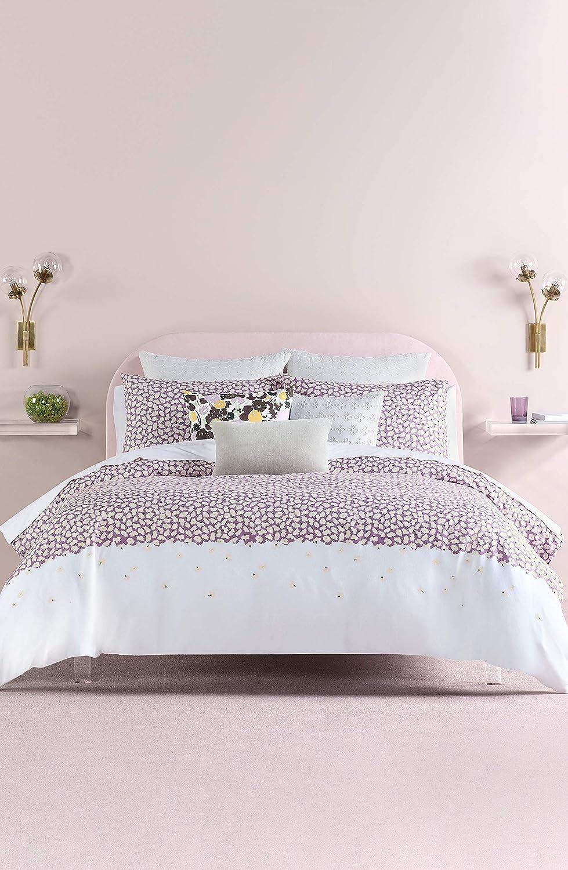 Kate Spade New York Carnation Twin Comforter Set Bedding, Lavender