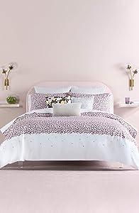 Kate Spade New York Carnation King Comforter Set Bedding, Lavender