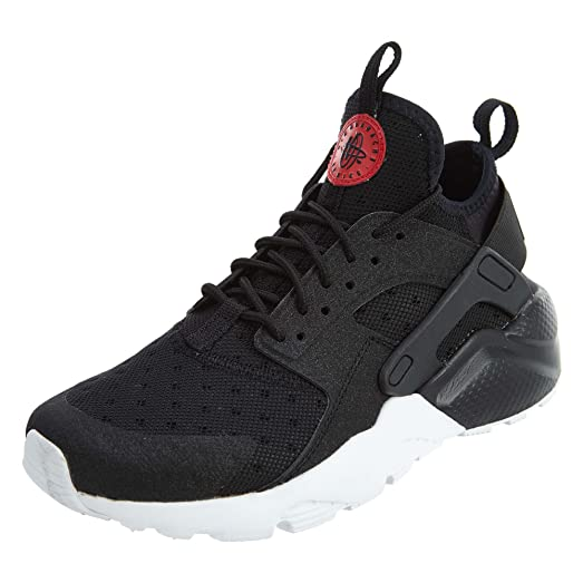 882144-001 GRADE SCHOOL AIR HUARACHE RUN ULTRA PRM GS NIKE BLACK/ RED