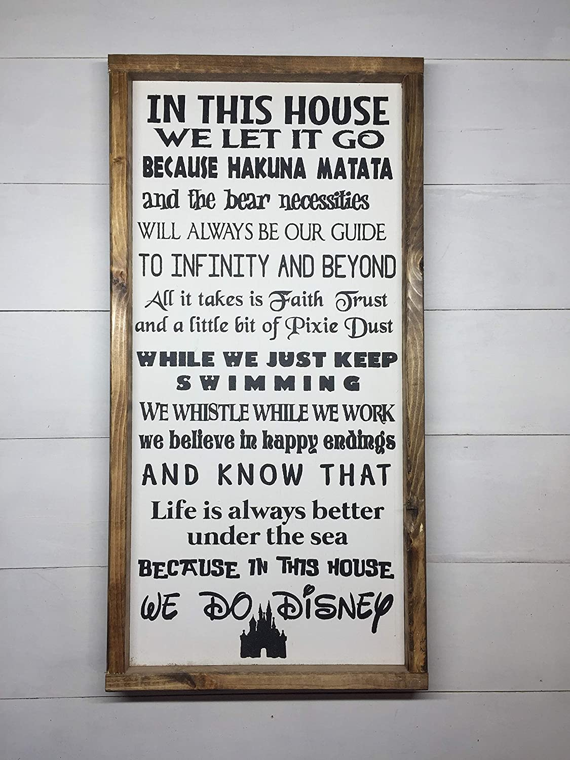 IN THIS HOUSE WE DO DISNEY | DISNEY FAMILY | DISNEY SIGN | DISNEY DECORATION | 12