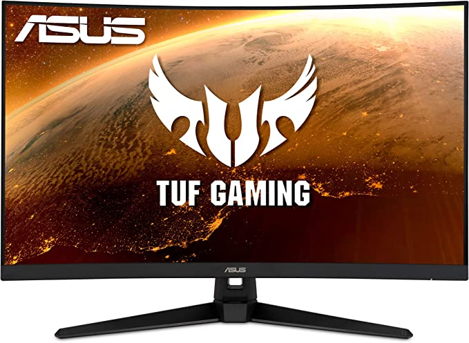 """Amazon.com: ASUS TUF Gaming VG32VQ1B 31.5"""" Curved Monitor, WQHD (2560 x 1440), 165Hz (Supports 144Hz), 1ms, FreeSync Premium/Adaptive-sync, Extreme Low Motion Blur, HDR10, HDMI DisplayPort: Computers & Accessories"""