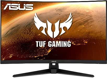 "ASUS TUF Gaming VG32VQ1B 31.5"" Curved Monitor, WQHD (2560 x 1440), 165Hz (Supports 144Hz), 1ms, FreeSync Premium/Adaptive-sync, Extreme Low Motion Blur, HDR10, HDMI DisplayPort"