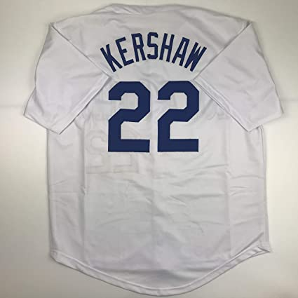 newest f4cd4 db504 Unsigned Clayton Kershaw Los Angeles LA White Custom ...