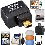 ニコン WU-1a ワイヤレス Wi-Fi モバイルアダプター (iPhoneまたはAndroid用) フラッシュディフューザー 3点 + キット DF、D3200、D3300、D5200 & D7100 カメラ用 (認定整備品)