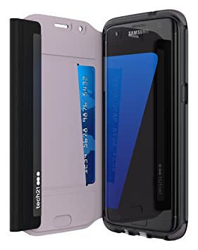 buy online b8020 cd729 Tech21 T21-5240 Evo Wallet Durable Impact Resistant Folio Flip Case Cover  with FlexShock Technology and Credit Card Slot for Samsung Galaxy S7 Edge -  ...