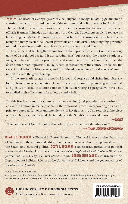 Machinations, And The Decline Of Georgia's Progressive Politics:  Charles Bullock, Scott Buchanan, Ronald Gaddie: 9780820347349: Amazon:  Books