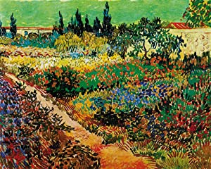 1art1 Vincent Van Gogh Poster Art Print - Blossoming Garden and Path, 1888 (20 x 16 inches)