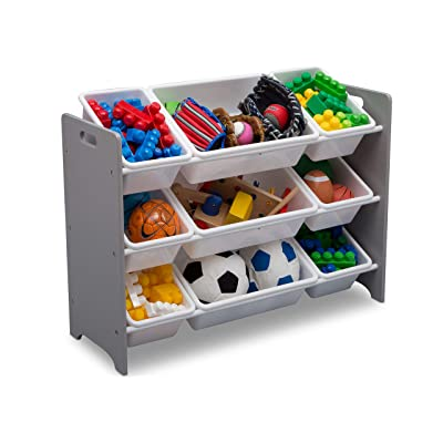 Delta Children MySize 9 Bin Plastic Toy Organizer, Grey : Baby [5Bkhe0202024]