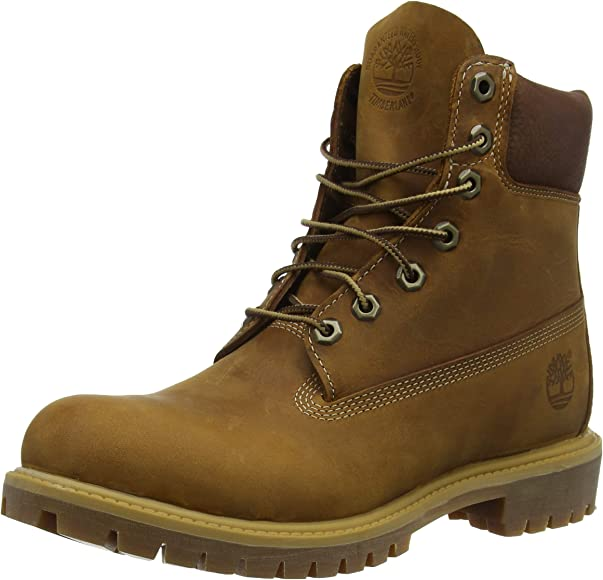 """a752729a3790a Timberland Mens Heritage 6"""" Premium Boot Burnt Orange Worn Oiled All  Leather 7W"""