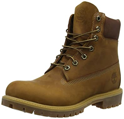 Timberland Herren Heritage 6 quot  Premium Waterproof (Wide fit) Stiefel  Braun (Brown Burnished 17a4a35082