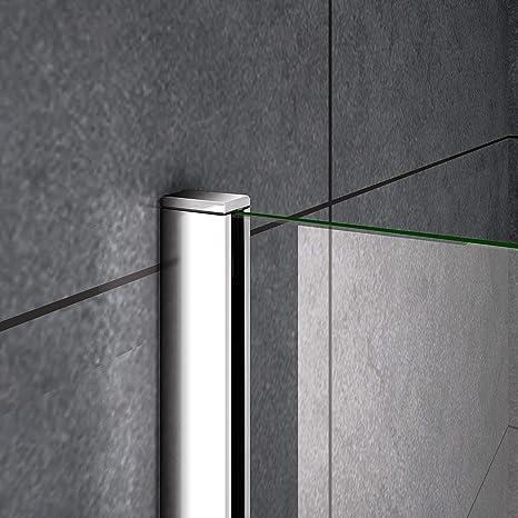 AICA paroi de douche 140x200cm en 8mm verre anticalcaire paroi lat/érale douche italienne