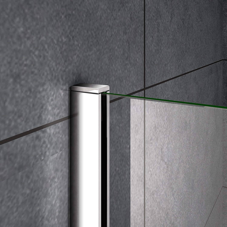 AICA paroi de douche 50x200cm en 8mm verre anticalcaire paroi lat/érale douche italienne