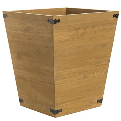 Charmant Amazon.com: MyGift Dark Brown Torched Wood Design Waste Bin/Small Decorative  Trash Can For Bedroom, Bathroom U0026 Office: Home U0026 Kitchen