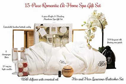 christmas gifts for her him couples spa romance in a box with