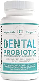 Dental Probiotic 60-Day Supply. Oral probiotics for Bad Breath, Tooth Decay,