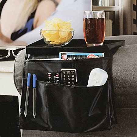 EGT 6 Pocket Arm Rest Organiser Armrest Chair Couch Sofa TV Remote Control  Holder
