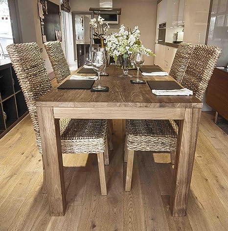 Sedie In Legno Riciclato.Ombak Furniture Malimbu 160 Cm Tavolo In Legno Riciclato E Sedie