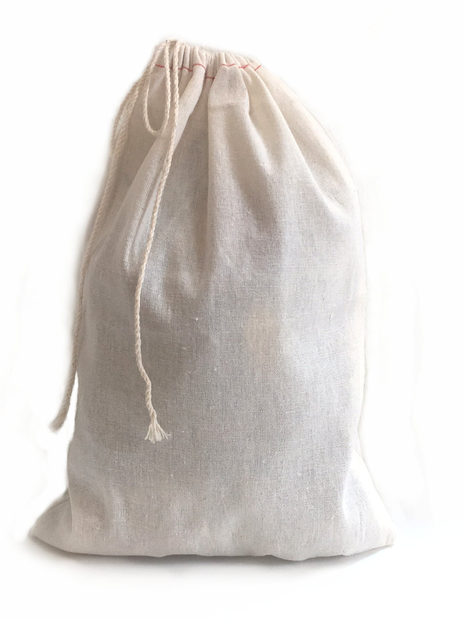 Large Muslin Cotton Drawstring Bag 8x12 inch 10 count by Pure Joy Concepts