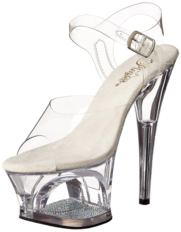 Pleaser Damen Moon-708dm Plateausandalen Transparent (Transparent)2018 Letztes Modell  Mode Schuhe Billig Online-Verkauf
