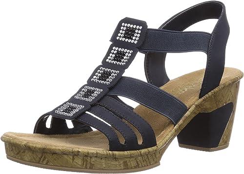 Rieker Damen Sandaletten 69761 Weiß