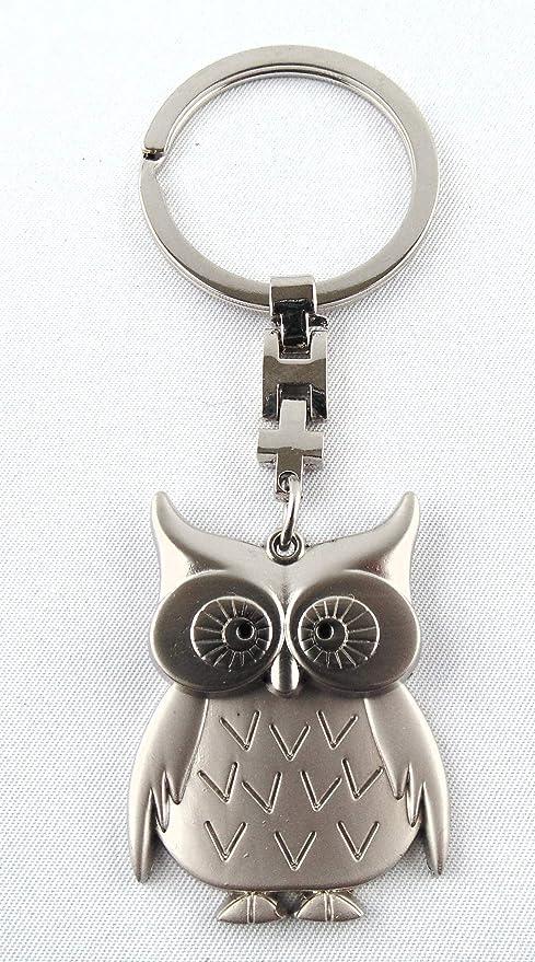 Eule Silber Schlüsselanhänger anhänger silber aus Metall