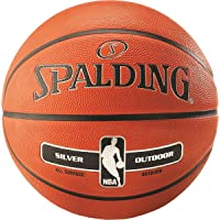 Pelota baloncesto SPALDING NBA Silver Outdoor (talla 7)
