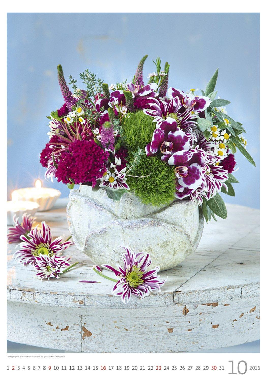 Magic Flowers Wall Calendar 2016 - Bouquet Calendar - Poster Calendar - Flower Calendar By Helma