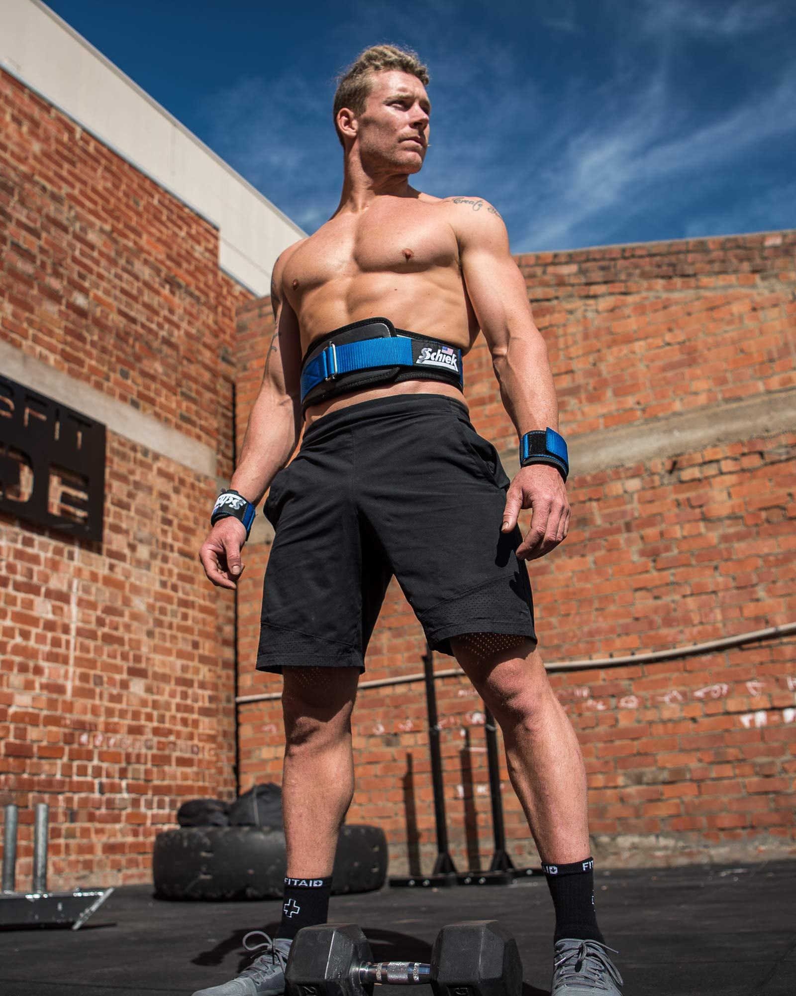 3006 Power Lifting Belt (Blue, Small)