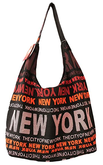 08f38752e3fdb Amazon.com  Robin Ruth New York City Cotton Fabric Shoulder Hobo Bag Black  Red  Shoes