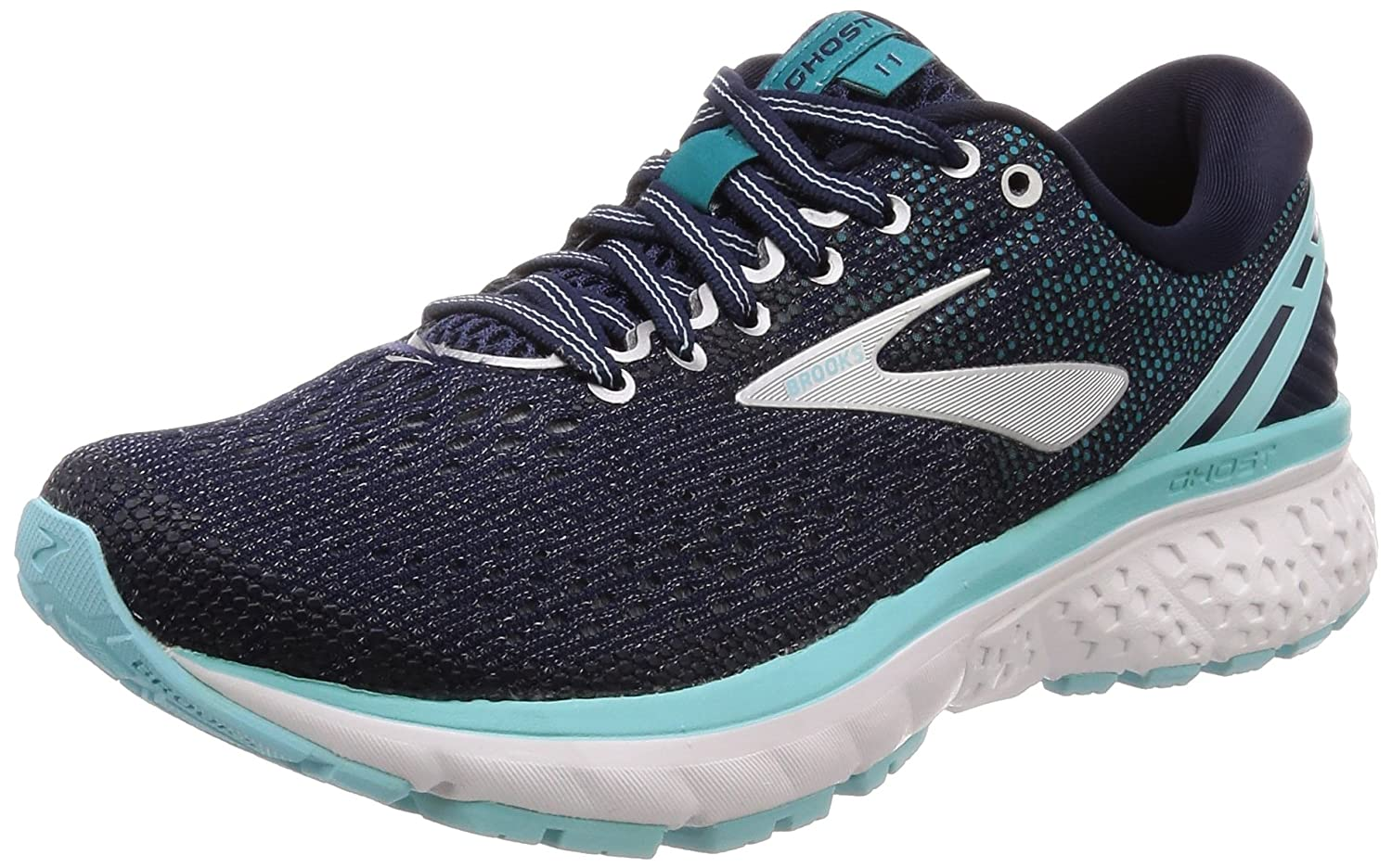 Brooks Womens Ghost 11 Running Shoe B078BS62YL 6 W US|Navy/Gray/Bue