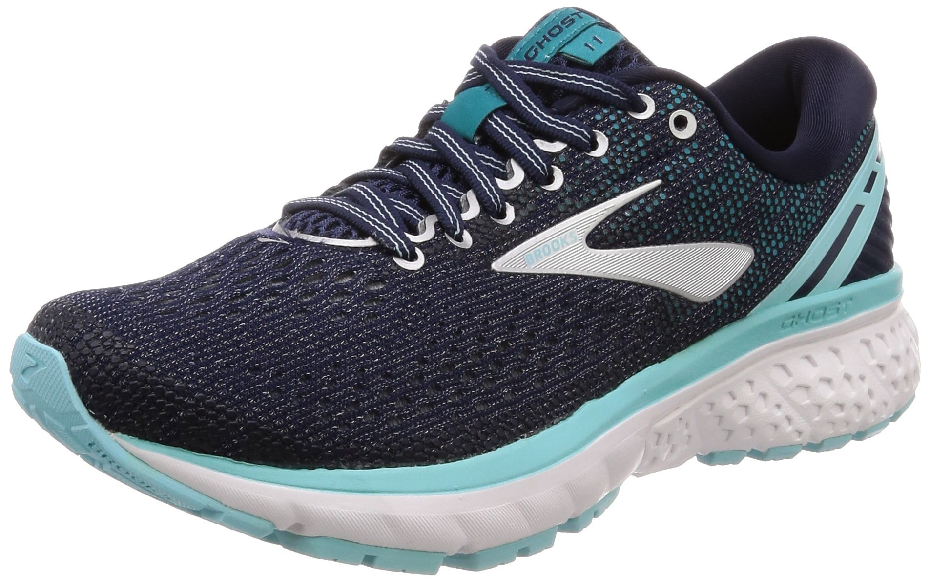 Brooks Womens Ghost 11 Running Shoe - Navy/Grey/Blue - D - 5.5 by Brooks (Image #1)