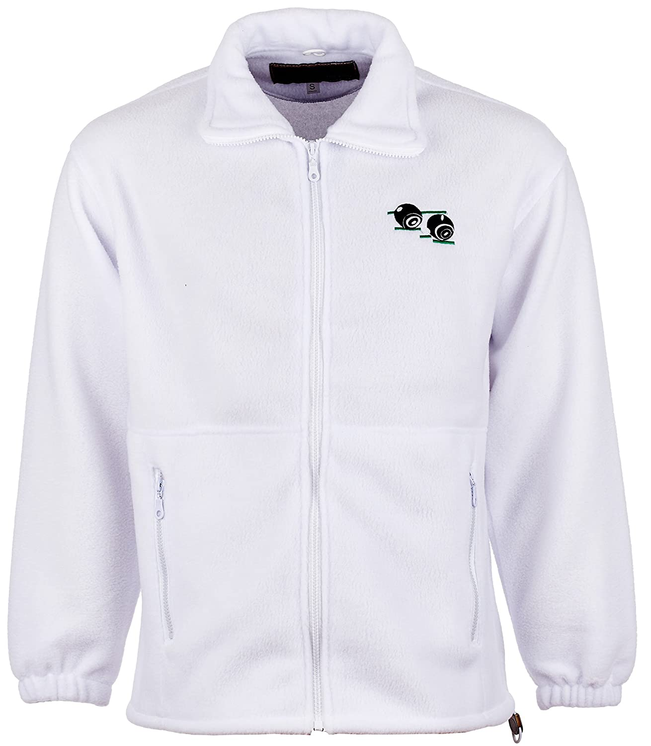 Anti Pill Fleece Bowling Jacket With Embroidered Bowls Bowlers Logo