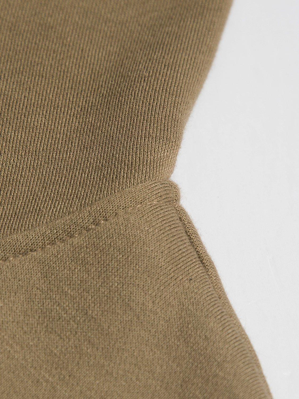 PERSUN Women's Loose Solid Zip Up Sweatshirt Drawstring Fleece Hoodie,Brown,XL by PERSUN (Image #8)