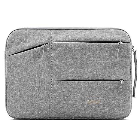 Portátil ordenador portátil poliéster a prueba de golpes, resistente protectora Funda bolsa con bolsillos para