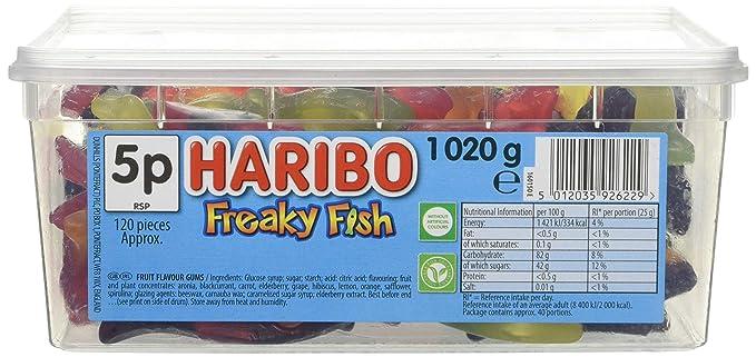 Haribo Tub Freaky Fish 1022g (Pack Of 1) by Haribo