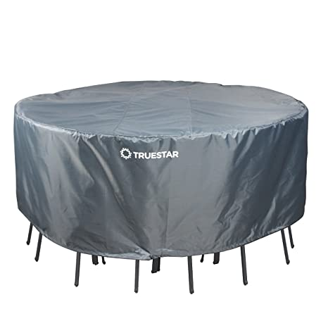 amazon com truestar veranda round patio table and chairs cover 70