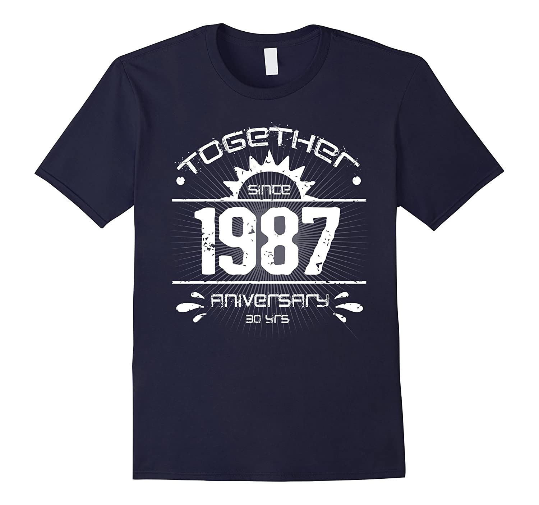 30th Anniversary T Shirt Vintage 1987 Couple Anniversary-FL