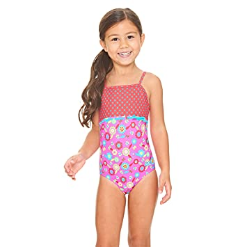 f65bf7f3fd Zoggs Girls  Flora Classic Back Swimsuit  Amazon.co.uk  Sports ...