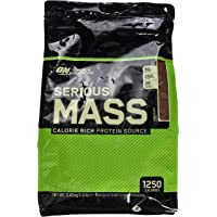 Optimum Nutrition Serious Mass Whey Protein Powder with Vitamins, Creatine and Glutamine. Protein Shakes by ON - Chocolate, 16 Servings, 5.45 kg