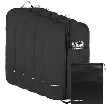 4b78d0144d GWHOLE5枚組 洋服カバー スーツカバー 衣類カバー 収納 不織布製 防塵 防湿 折り畳みタイプ