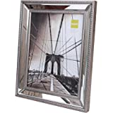 kiera grace sutton mirrored picture frame 8 by 10 inch champagne