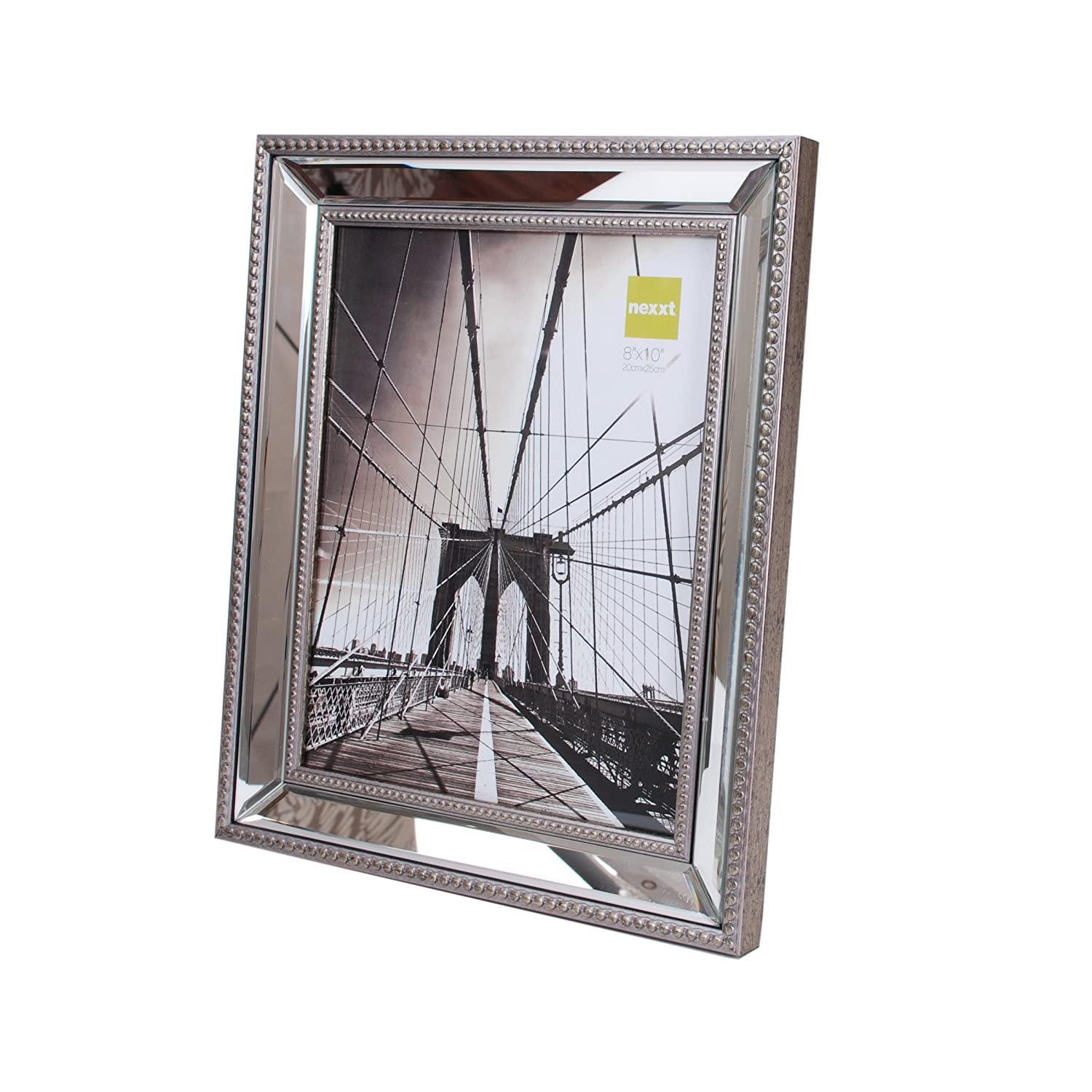 amazoncom kiera grace sutton mirrored picture frame 8 by 10 inch champagne home kitchen