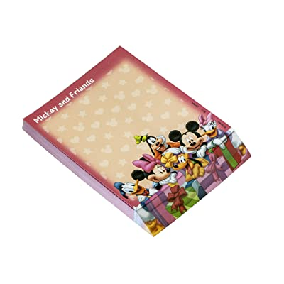 Disney Red Mickey and Gang Deluxe Memo Pad Novelty: Toys & Games