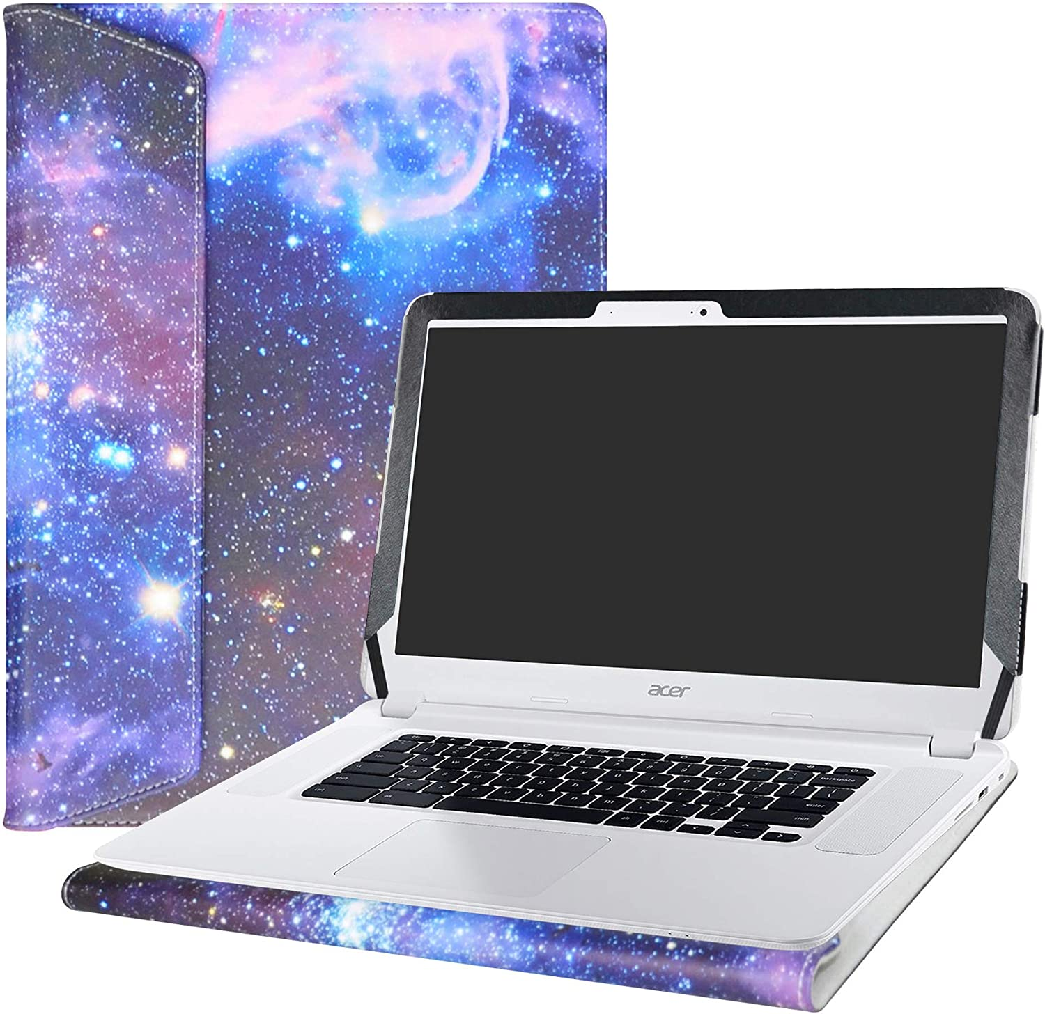 """Alapmk Protective Case Cover for 15.6"""" Acer Chromebook 15 C910/CB5-571/CB3-531/CB3-532 Series Laptop [Warning:Not fit Acer Chromebook 15 CB3-532 CP315 CB315-1H Series],Galaxy"""